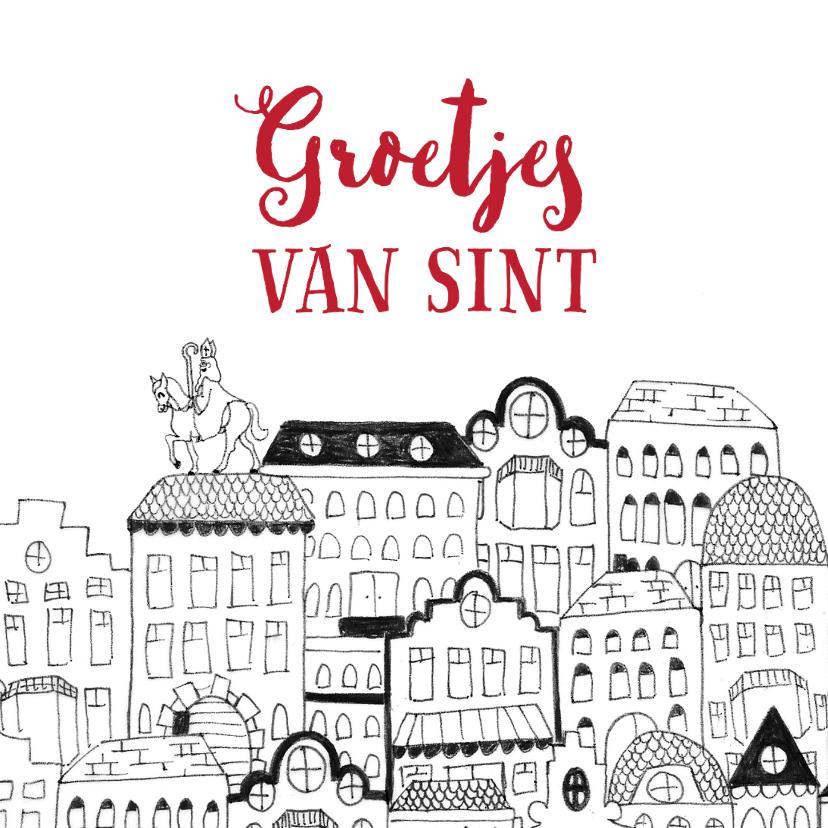 Sinterklaaskaart brief van Sint wortel tekening 2
