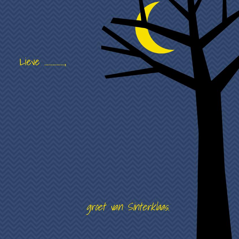 Sinterklaaskaart met boom en maan 3