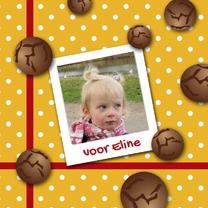 Sinterklaaskaarten - Sinterklaaskaart pepernoten g-HR