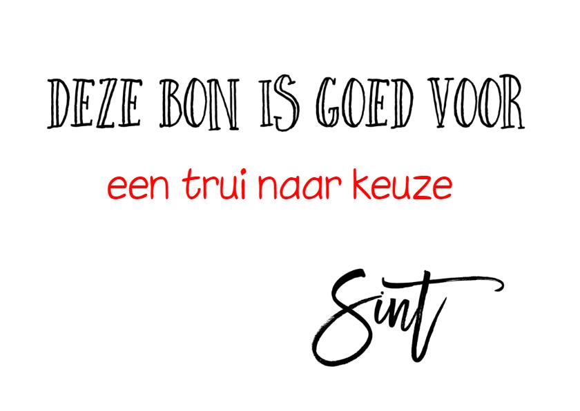 Sinterklaaskaart tegoedbon 3