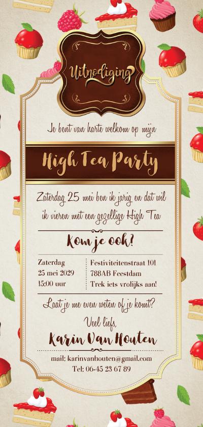 Smakelijke uitnoding met taartjes en cupcakes 3