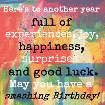 Verjaardagskaarten - Smashing Birthday