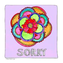 Sorry kaart bloem - SD