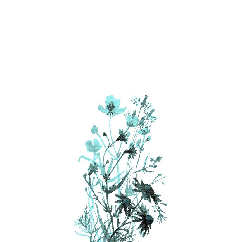 Sorry kaart met getekende veldbloemen  2