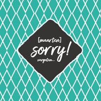 Sorry - naam + vergeten