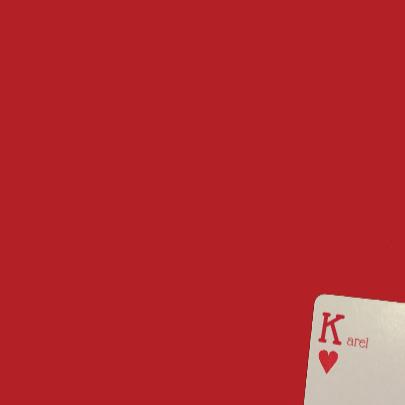 Speelkaart harten met eigen naam 3