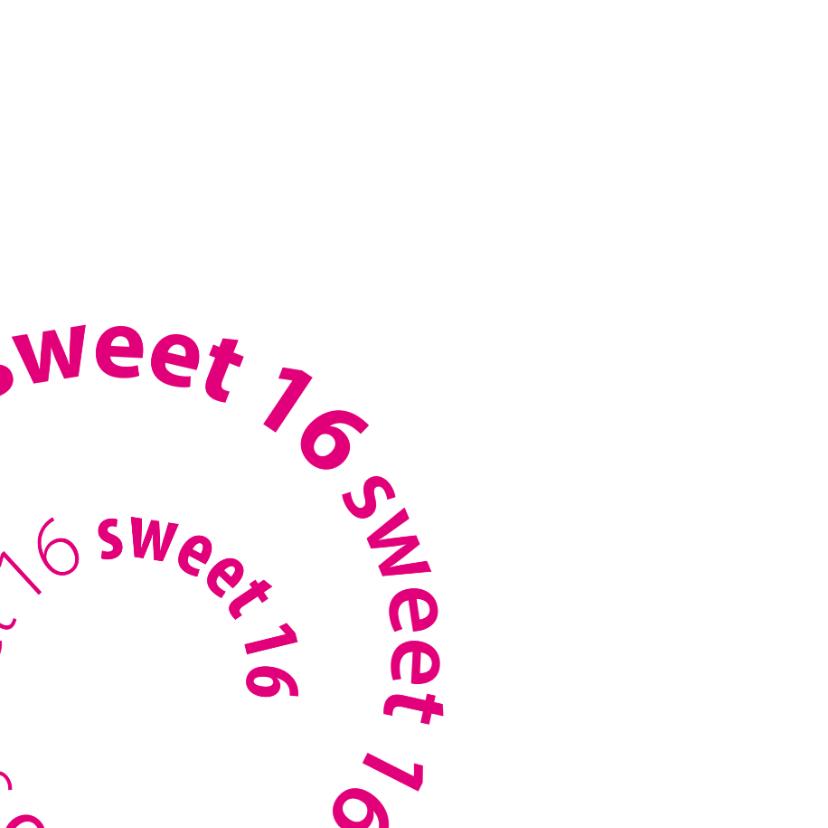 spiraal sweet 16 met foto 2