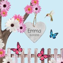 Geboortekaartjes - Sprookjes geboortekaartje met vlinders