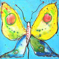 Sterkte kaarten - Sterkte kaart vrolijke vlinder