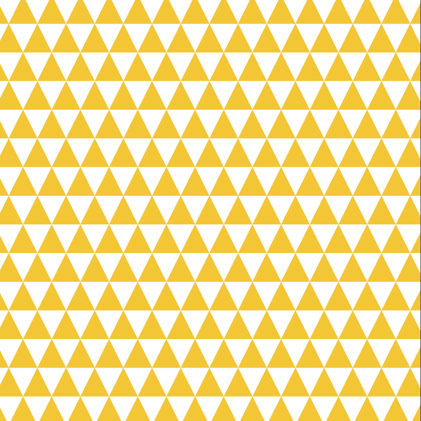 Sterktekaart geel driehoekjes 2