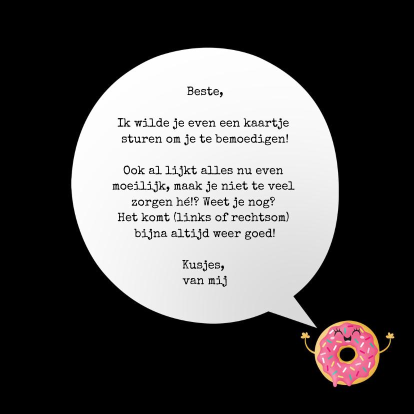 Sterktekaart opbeurend donut worry 3