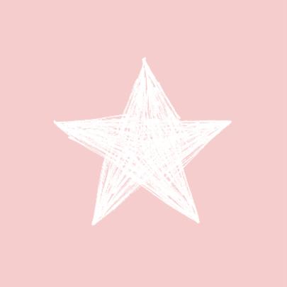 Sterren roze geboorte meisje 2