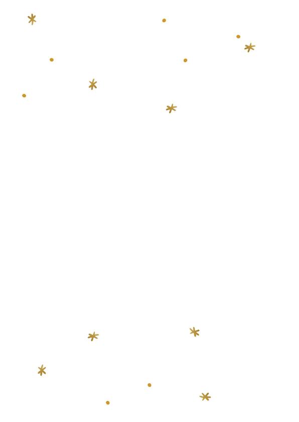 Stijlvolle kerstkaart met gouden krans en sterretjes 2