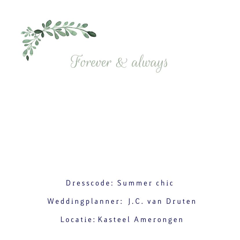 Stijlvolle trouwkaart met aquarel takjes en besjes - LC 2