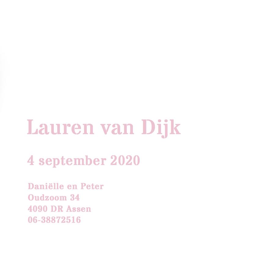 Stoer geboortekaartje Lauren 3