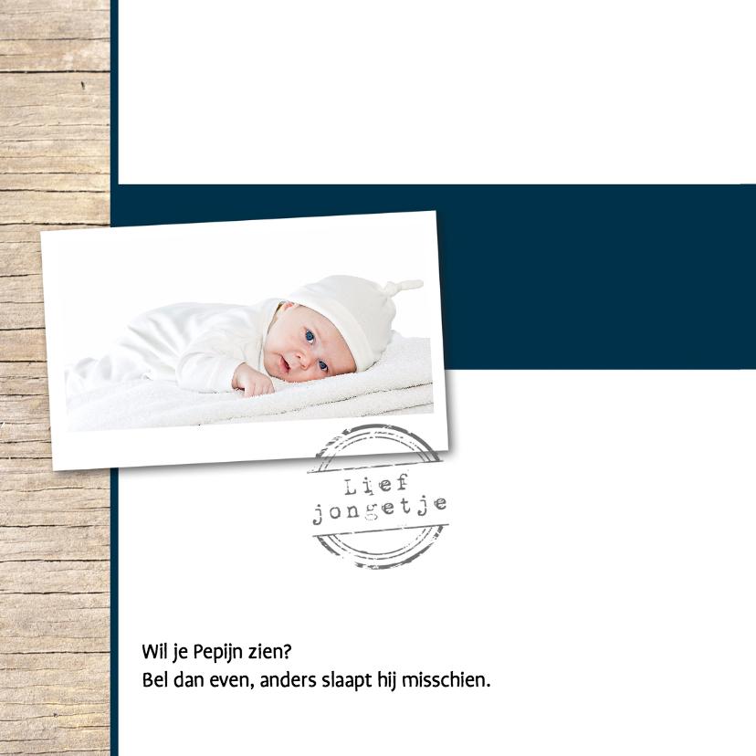 Stoer geboortekaartje Pepijn 2