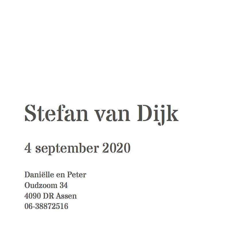 Stoer geboortekaartje Stefan 3
