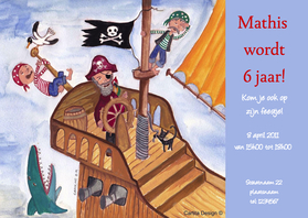 Kinderfeestjes - Stoer Piraten Feest Cartita Design