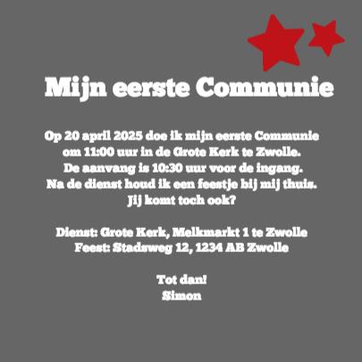 Stoere Communiekaart - DH 3
