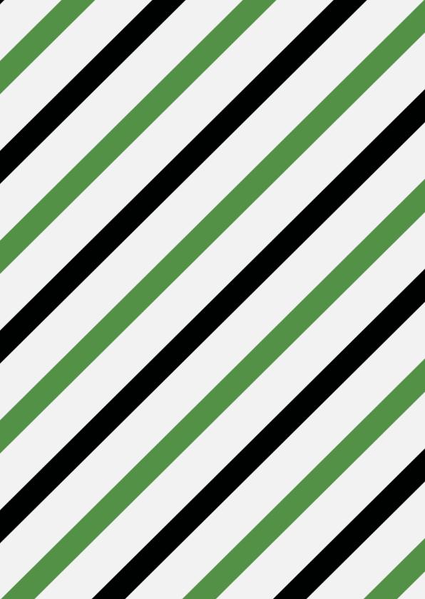 Stoere kerstkaart groen zwart 2