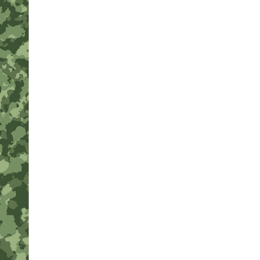 Stoere legerprint kaart met naam 2