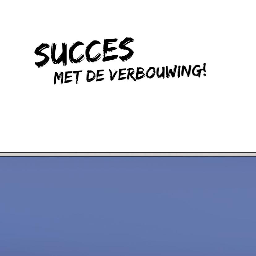 Succes met verbouwing kaart met grappige cartoon 3