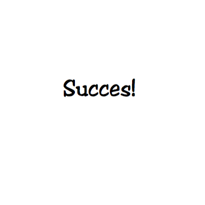 SUCCES op filmklapper 3
