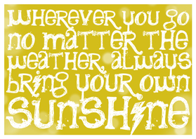 Coachingskaarten - Sunshine spreuk