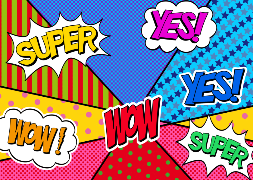 Super leuke verjaardagskaart met vele kleuren en kreten 3
