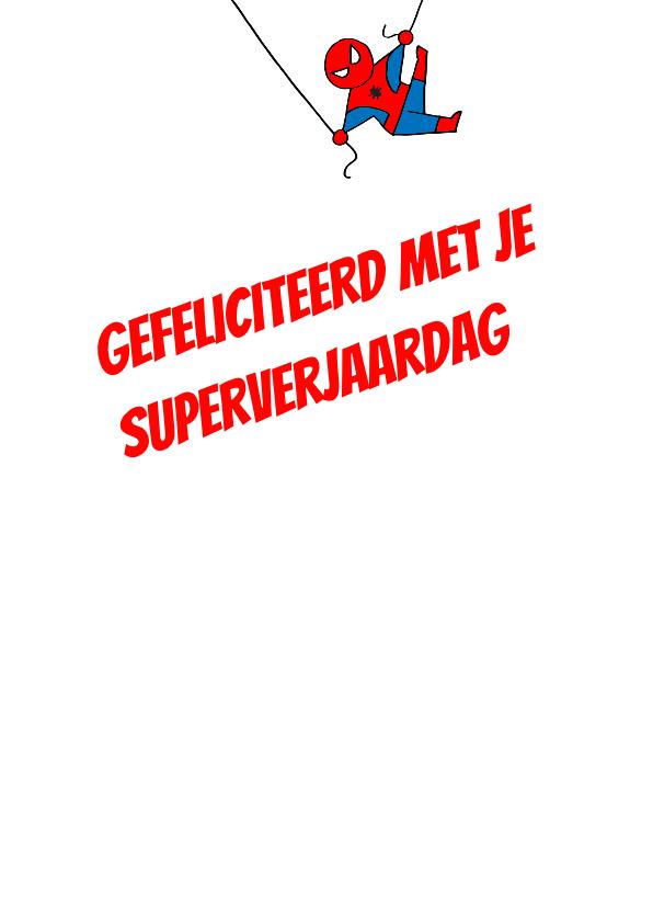 Super verjaardagskaart spiderman 3