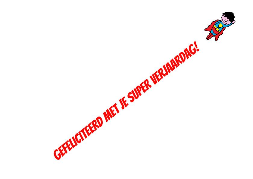 superhelden verjaardag kaart 3-d 3