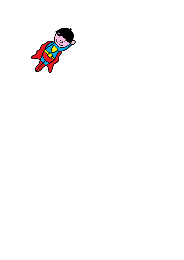 superman jarige jongen blond 2
