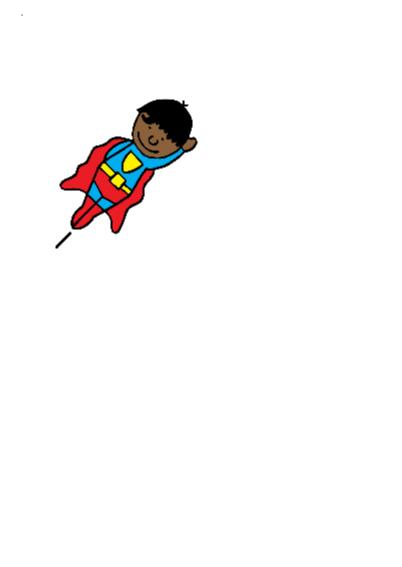 superman jarige jongen gekleurd 2
