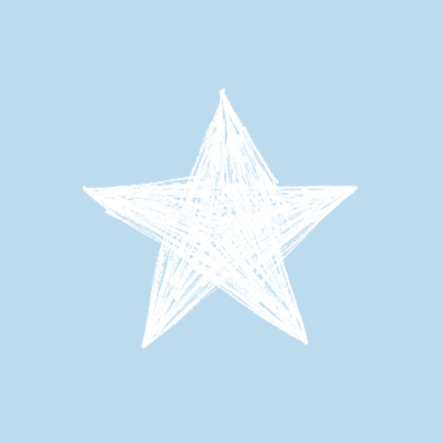 Tekening blauwe sterren jongen 2