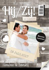 Trouwkaarten - Tijdschrift Trouwkaart 1LS3