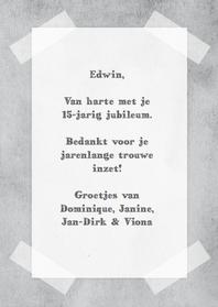 40 Jaar Jubileum Werk Gedicht
