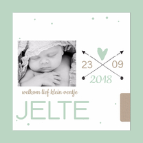 Geboortekaartjes - Trendy geboortekaart pijltjes