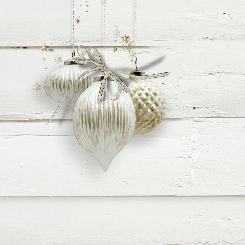Trendy kerstkaart houtprint wit 2