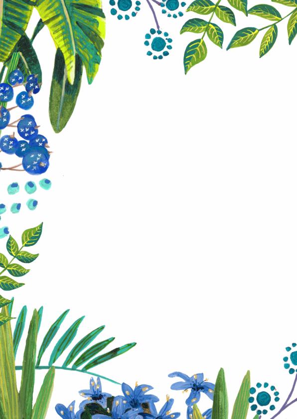 Tropical Menukaart Bladeren 2