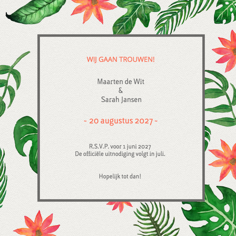 Tropical Save the Date - DH 3