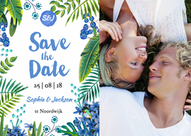 Trouwkaarten - Tropical Save the Date
