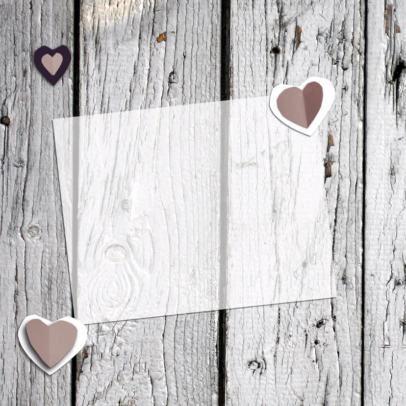 Trouw harten & foto hout print 2