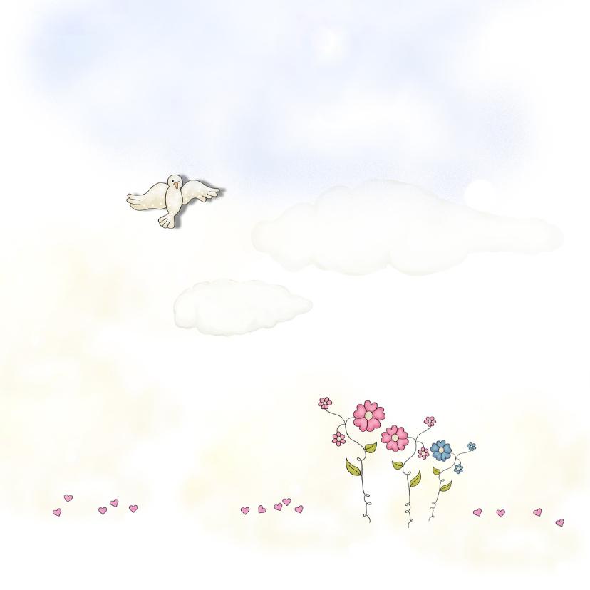Trouw(verlovings)kaarten duif 2