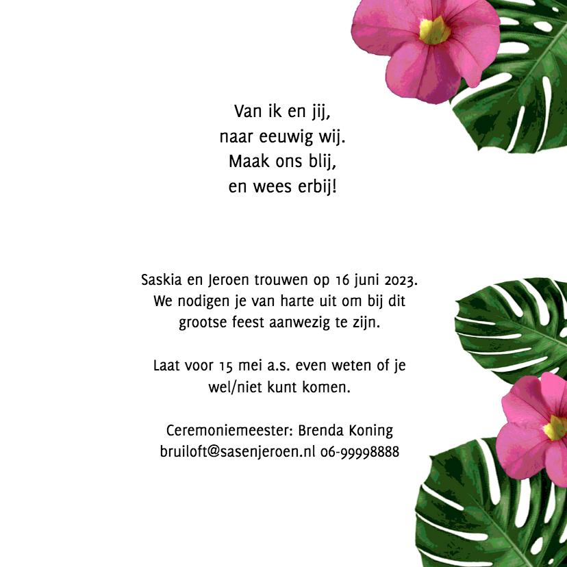Trouwen flora roze zwart - HR 3