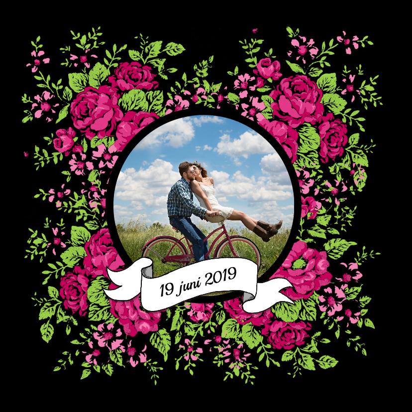 Trouwen folk rozen roze - HR 2
