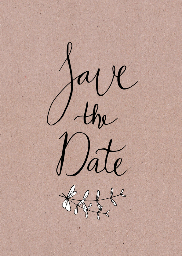 Trouwen save the date kraftprint - HR 2