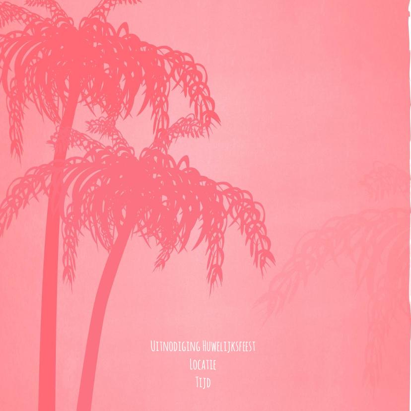 Trouwen zomer palm strand 2
