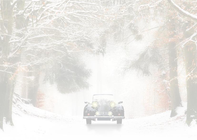 Trouwen  zwarte oldtimer -sneeuw- 3
