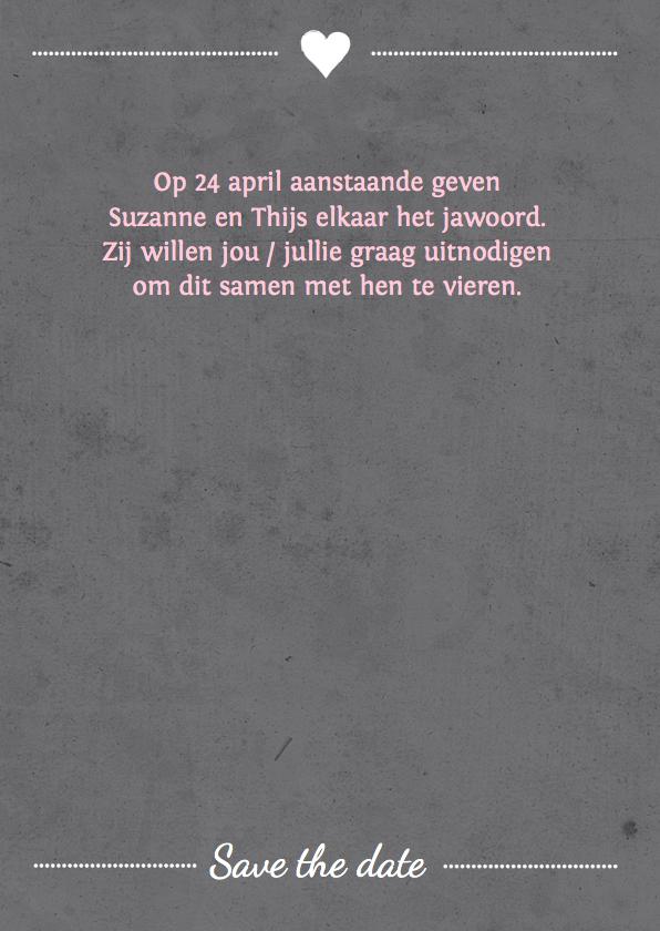 Trouwkaart affiche grijs 3