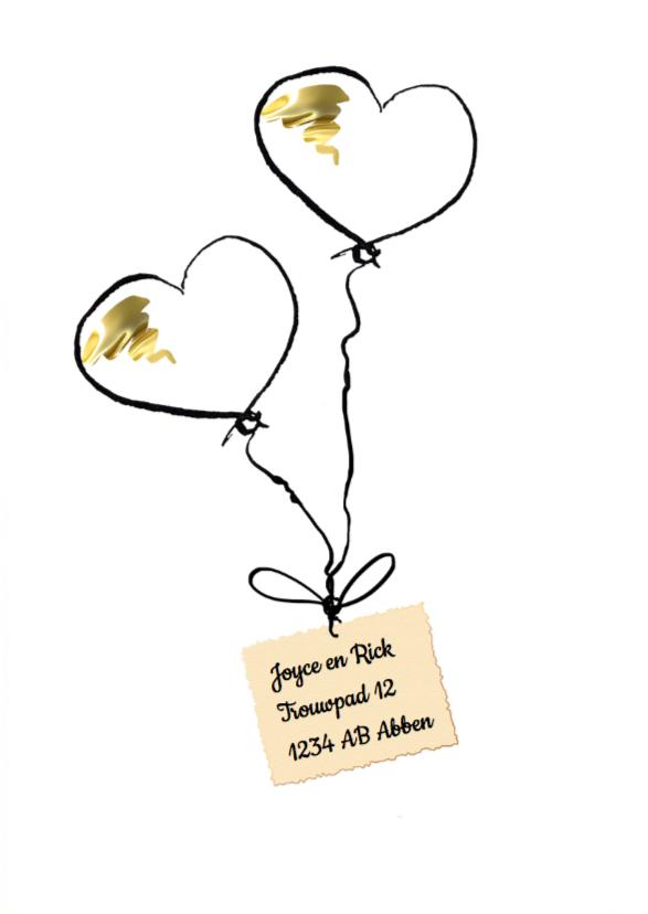 trouwkaart Ballonnen 2
